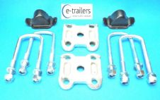 SINGLE Leaf Spring AXLE Kit for IFOR WILLIAMS - Bump Stop Clamp Base UBolts